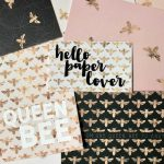 bee print stationery