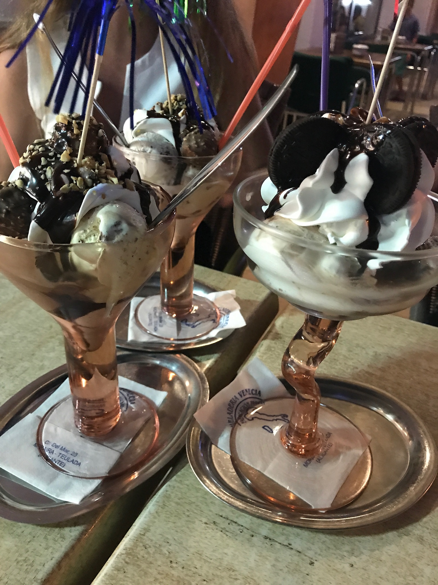 Icecream sundaes