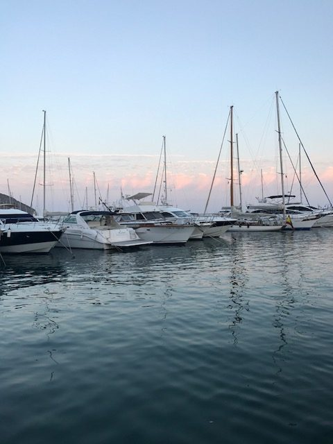 Boats at Javea - slow down