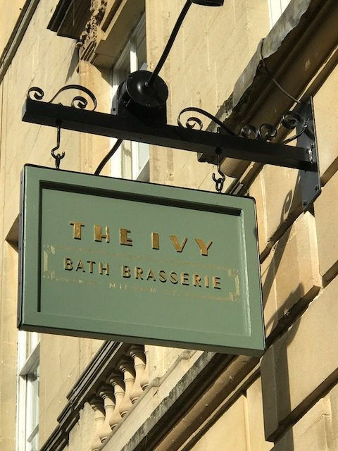 Eating at The Ivy Bath Brasserie